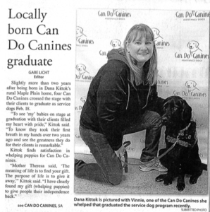 Herald Journal Featuring Puppy Raiser