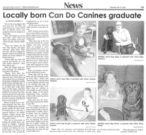 Herald Journal featuring Autism and Mobility Assist Dogs