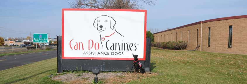 Can Do Canines building sign